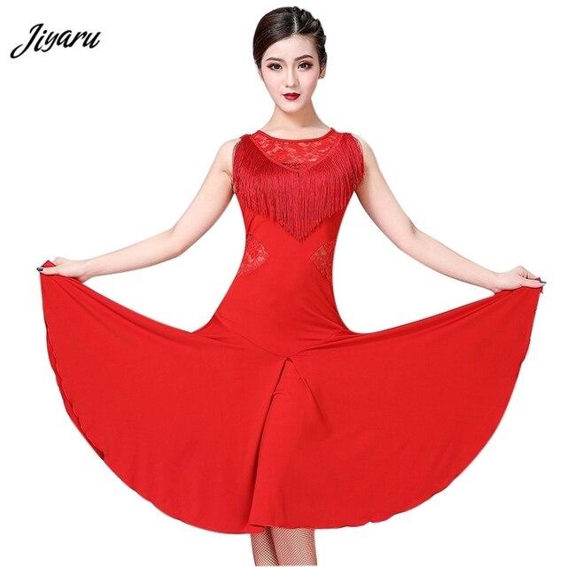Vestido de baile latino para mujer, Ropa de baile con borlas/Tango/Rumba/traje de baile latino sin mangas, vestido de baile de competencia Latino