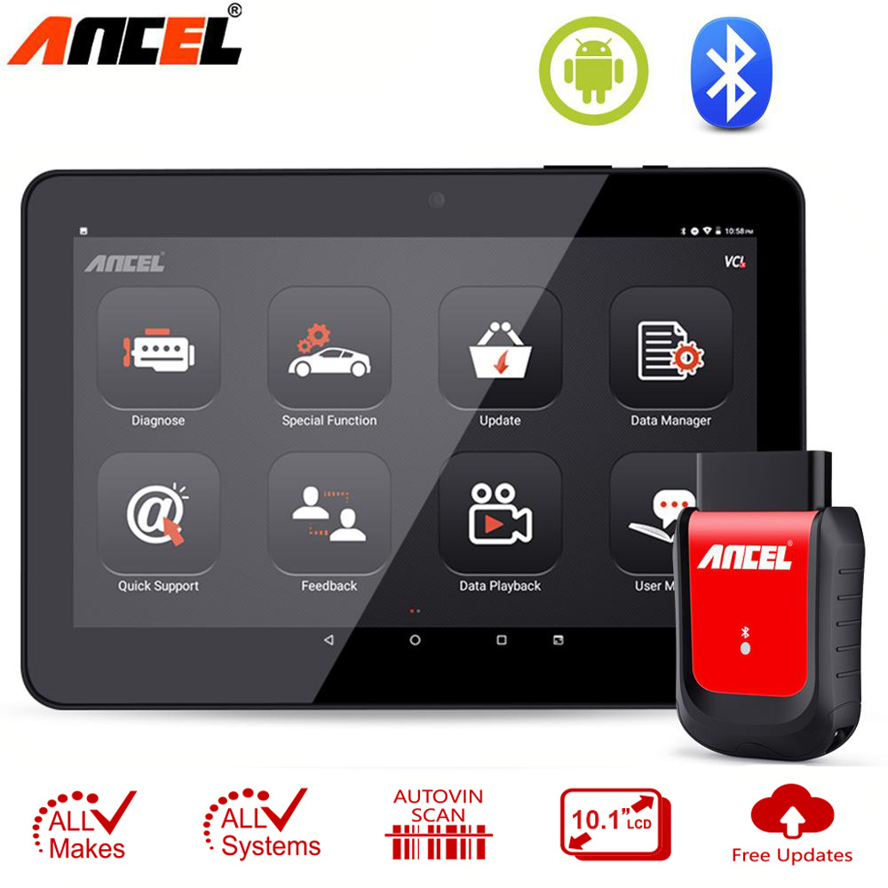 Ancel X6 OBD2 Automotive Scanner Wifi BT Obd 2 ABS Airbag Oil EPB DPF Reset Android Bluetooth Car Diagnostic Tool Free Update-in Code Readers & Scan Tools from Automobiles & Motorcycles on