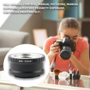 Image 5 - Für M42 EOS M Mount Ring Adapter Kamera Objektiv Adapter Ring für Canon Zubehör M42 Objektiv zu Canon EF M Mirroless Kamera