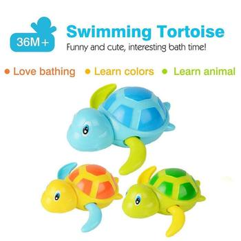 Baby Toy Bath Cute Cartoon Animal Tortoise Classic Water Infant Swimming Turtle Kids Beach For