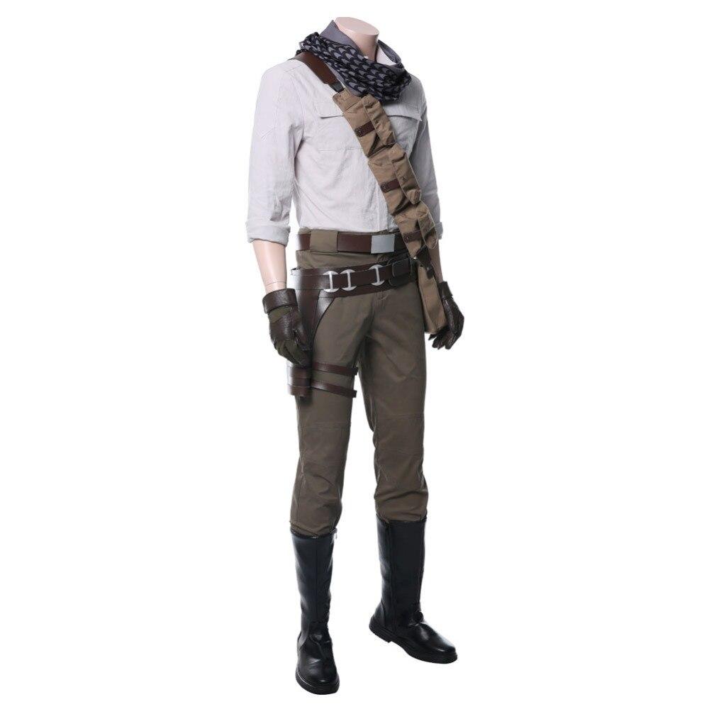 Poe dameron cosplay traje masculino conjunto inteiro halloween carnaval trajes