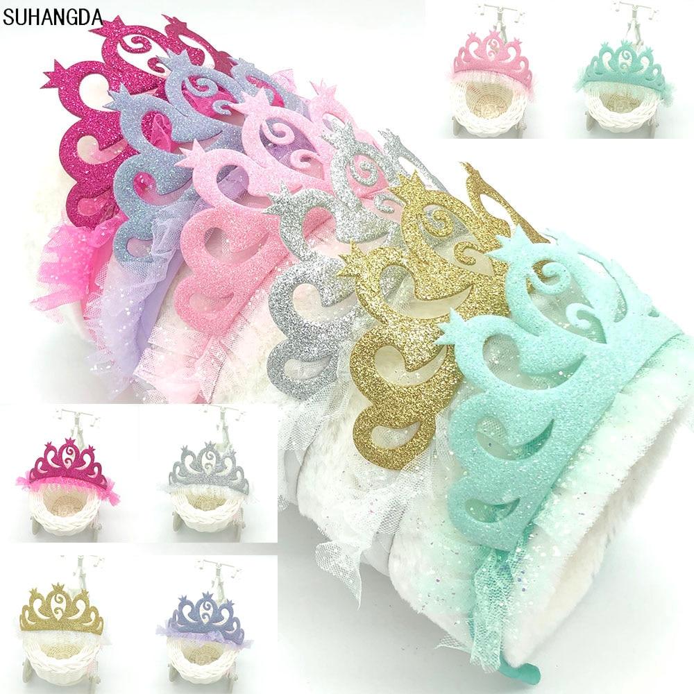 Новая Милая Стразы, блестящая корона, повязка на голову для девочек, аксессуары для волос, детский головной убор для вечерние