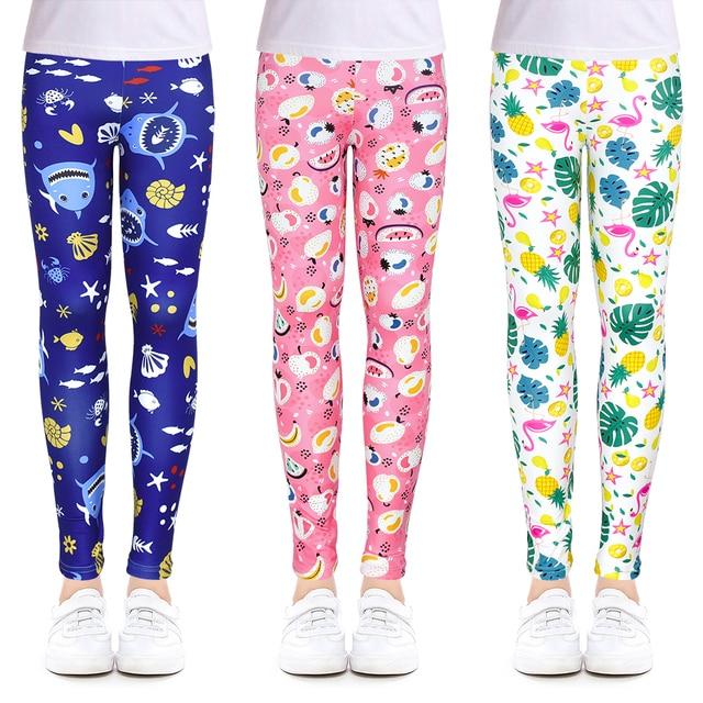 Vestiti Delle Ragazze Dei Pantaloni delle Ghette delle ragazze per la Corsa Esterna Studente Casual Usura Personalizzabile Moda Computer di Stampa Per 4-13 Anni 2