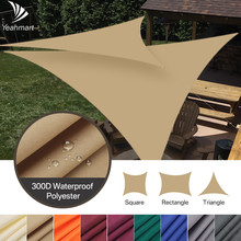 Shade Sail Awning SUN-SHELTER Outdoor Canopy Garden-Patio-Pool Waterproof Triangle 5x5x5/2x2x2m