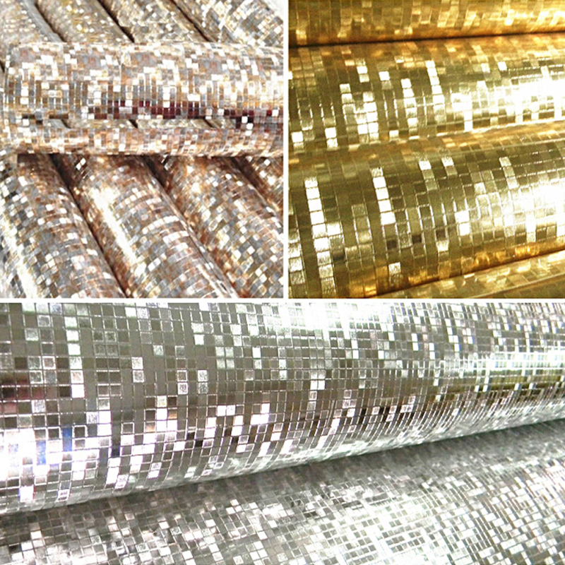 1Meter 3D Glitter Mirror Effect Mini Mosaic Sparkle Reflect Foil Wallpaper For DIY Home Decoration Accessories
