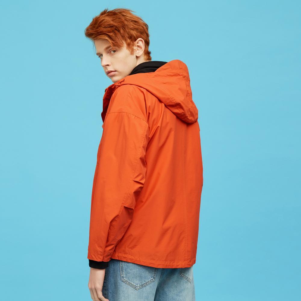 Metersbonwe, Мужская Новинка 2020, Весенняя повседневная куртка, Мужская, красивая, модная, с капюшоном, однотонная, расслабленная, трендовая, повсе... - 4