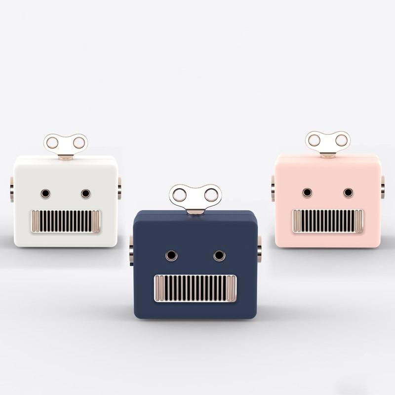 New Mini Portable Blurtooth Speakers Robot USB Rechargeable Wireless Bluetooth Speaker Creactive Cute Decor