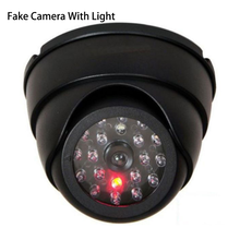 Smart Indoor/Outdoor Dummy Surveillance Camera Home Dome Waterproof Dome Fake CCTV Security Camera With Flashing Red LED Lights