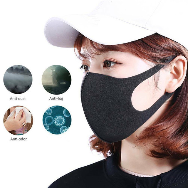 10pcs Washable Face Masks anti dust mask Activated carbon filter Windproof Mouth-muffle bacteria proof Flu Face masks Care 5