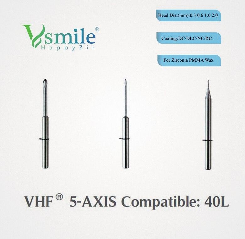 VHF фрезерные Burs совместимы с VHF CAD/CAM машины мельница PMMA для стоматологического техника с использованием