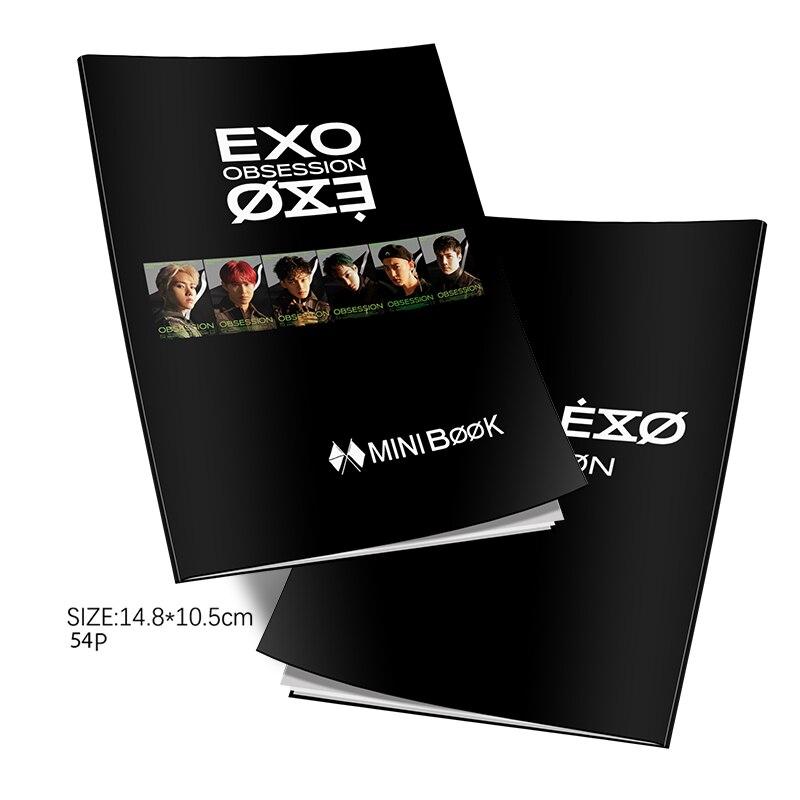 EXO OBSESSION Fashion K-pop EXO Mini Photobook Photo Card Fans Collection Drop Ship