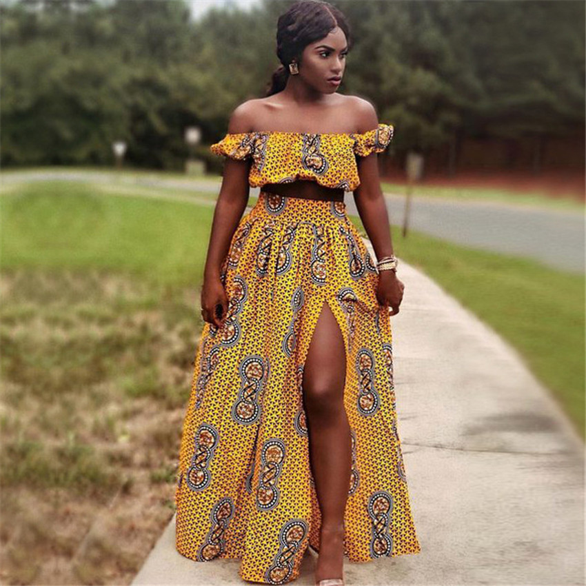 @Hadja Shoulder Off & African Skirt 1
