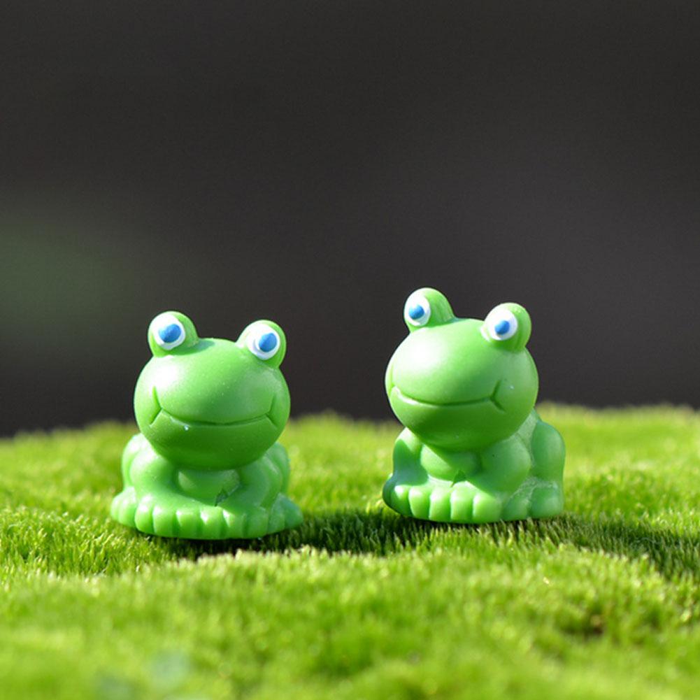 Fairy Princess Figurine Miniature Frog Garden Statue Dollhouse Decor Ornament