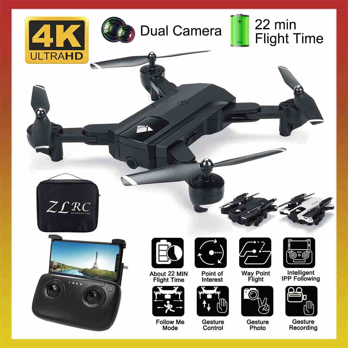 SG900 Opvouwbare drone profissional met Dual Camera drone 4K Selfie WiFi FPV Groothoek Optische Flow RC Quadcopter Helicopter speelgoed