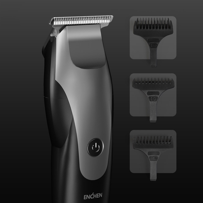 Men ENCHEN USB Charging Hair Trimmer Beard Trimer Electric Shaver Hair Cutting Machine T-Shaped Head Hair Clipper