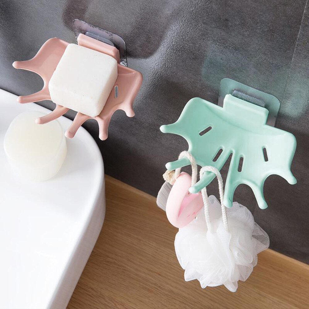 TENSKE Soap Shelf Cute Portable Home Travel Bathroom Shower Soap Box Dish Storage Plate Tray Holder Case Soap Holder #45