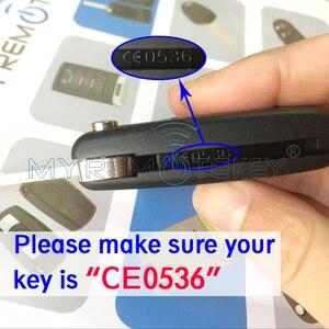 Image 5 - CE0536 модель 207 307 308 Автомобильный откидной пульт дистанционного управления 2 кнопки 434 МГц HU83 лезвие ключа для Peugeot citroen remtekey