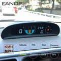 Eanop gh200 gps hud cabeça up display velocímetro do carro inclinômetro passo automotivo monitor de tensão bússola altitude para universal