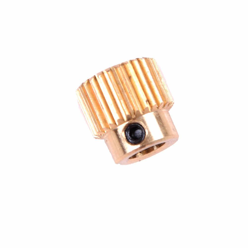銅 26 歯モータ軸 5 ミリメートルギア真鍮ワイヤーため 3D プリンタ押出フィーダー押出機ギアホイール