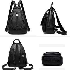Image 5 - Women Leather Backpacks High Quality Female Backpack Chest Bag Casual Daily Bag Sac a Dos Ladies Bagpack Travel School Back Pack