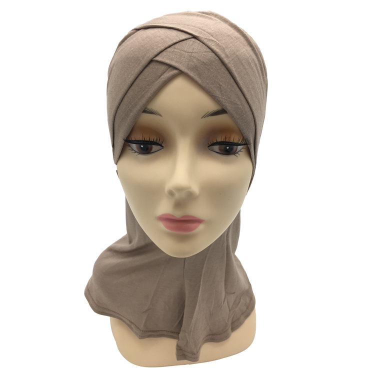 Image 3 - Retail two layers Double crossover muslim Cotton ninja underscarfIslamic Clothing