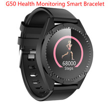 G50 1 3 cal kolorowy ekran inteligentny zegarek sportowy mężczyźni IP67 wodoodporna tętno ciśnienie krwi z monitorem snu i krokomierzem inteligentny bransoletka tanie tanio centechia CN (pochodzenie) Android Dla systemu iOS Na nadgarstek Zgodna ze wszystkimi 128 MB Rejestrator snu Wiadomości z przypomnieniami