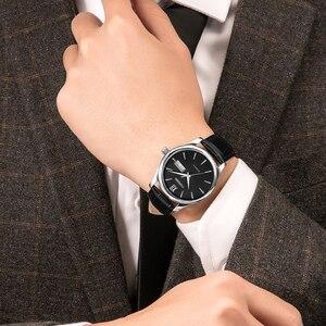 Image 5 - CADISEN Automatische Horloge Mannen Mechanische Lederen Horloges Top Luxe Merk Japan NH36A polshorloge Klok Relogio Masculino