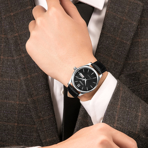 Image 5 - CADISEN 自動腕時計メンズメカニカル革の腕時計トップの高級ブランド日本 NH36A 腕時計時計レロジオ Masculino