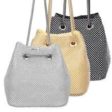 2019 new bucket womens bag studded dinner handbag dress evening