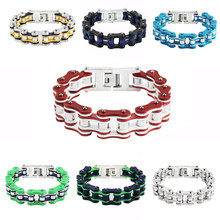 Punk Stainless Steel Bike Chain Bracelet Mens Bangle Link Chain Motorcycle Bicycle Style Bracelets Fashion Jewelry