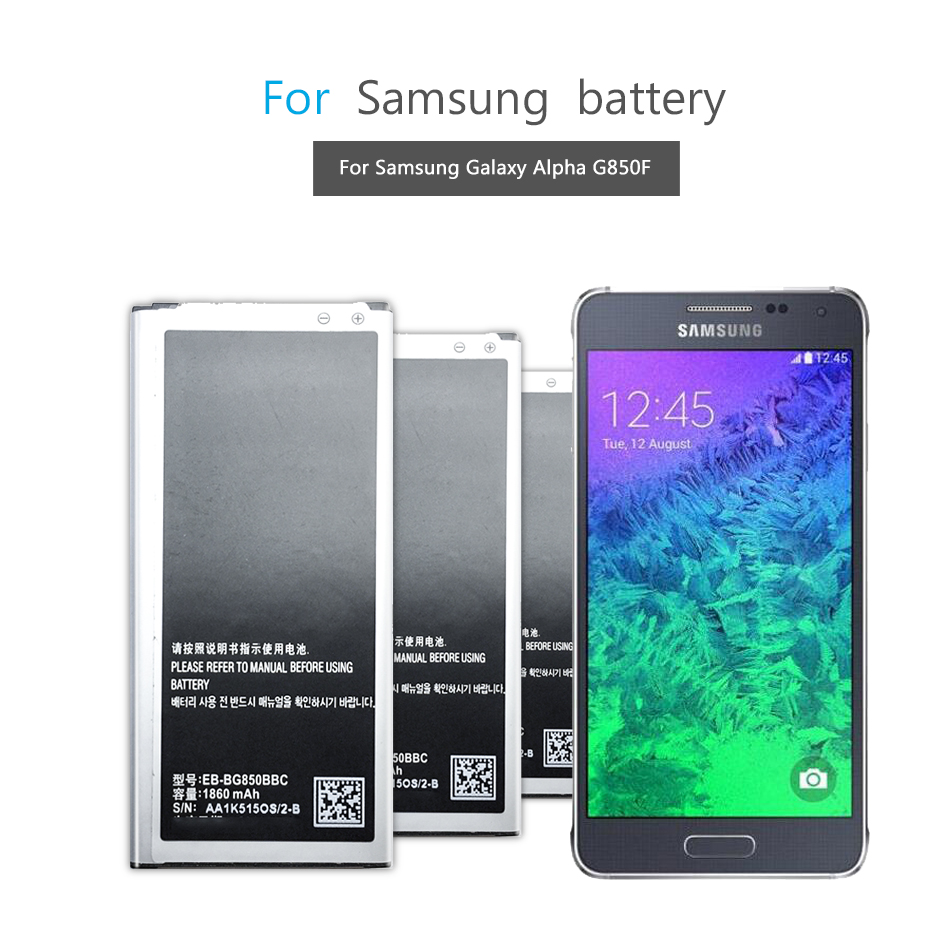 Mobile Phone Battery For Samsung Galaxy Alpha G850 G850F G850A G850W G850S G850K G850L G850T Battery EB-BG850BBE 1860mAh