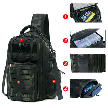 Tactical Chest Bag Military Army Laser Molle Sling Shoulder Backpack Men Outdoor Hunting Travel Camping Fishing Camo Bag 2