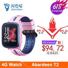 Abardeen T2 IP67 Waterproof Kids Smart Watch GPS dual Camera Smartwatch Baby 4G SIM Card connect watch Phone for Android & IOS