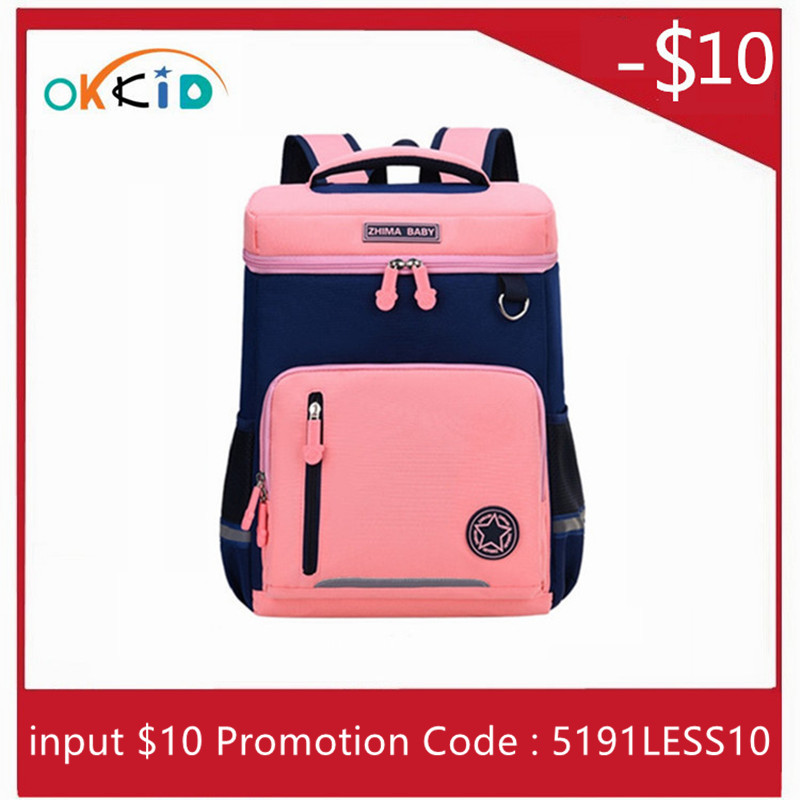 OKKID Primary School Bags For Girls Cute Kids Book Bag Children's School Backpack Girl Schoolbag Gifts For Kids Dropshipping
