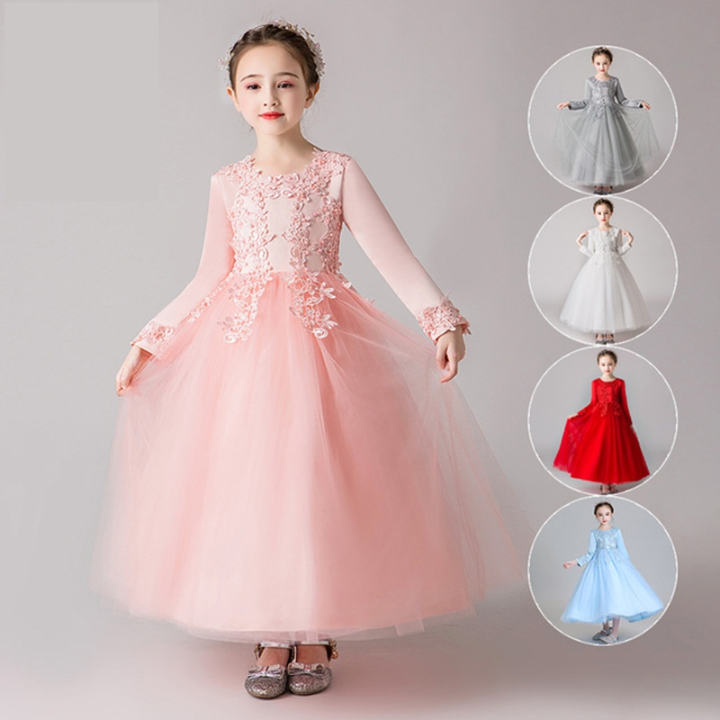 Flower Girls Summer Skirt Princess Dress Kids Baby Party Pageant Wedding Dresses