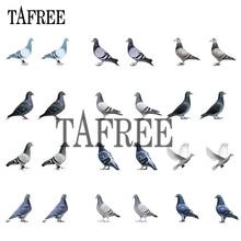 TAFREE Pigeon Acrylic Clip on Earrings Resin Epoxy Tiny ear clip Earrings New Heat-shrink sheets Jewelry for women 2020