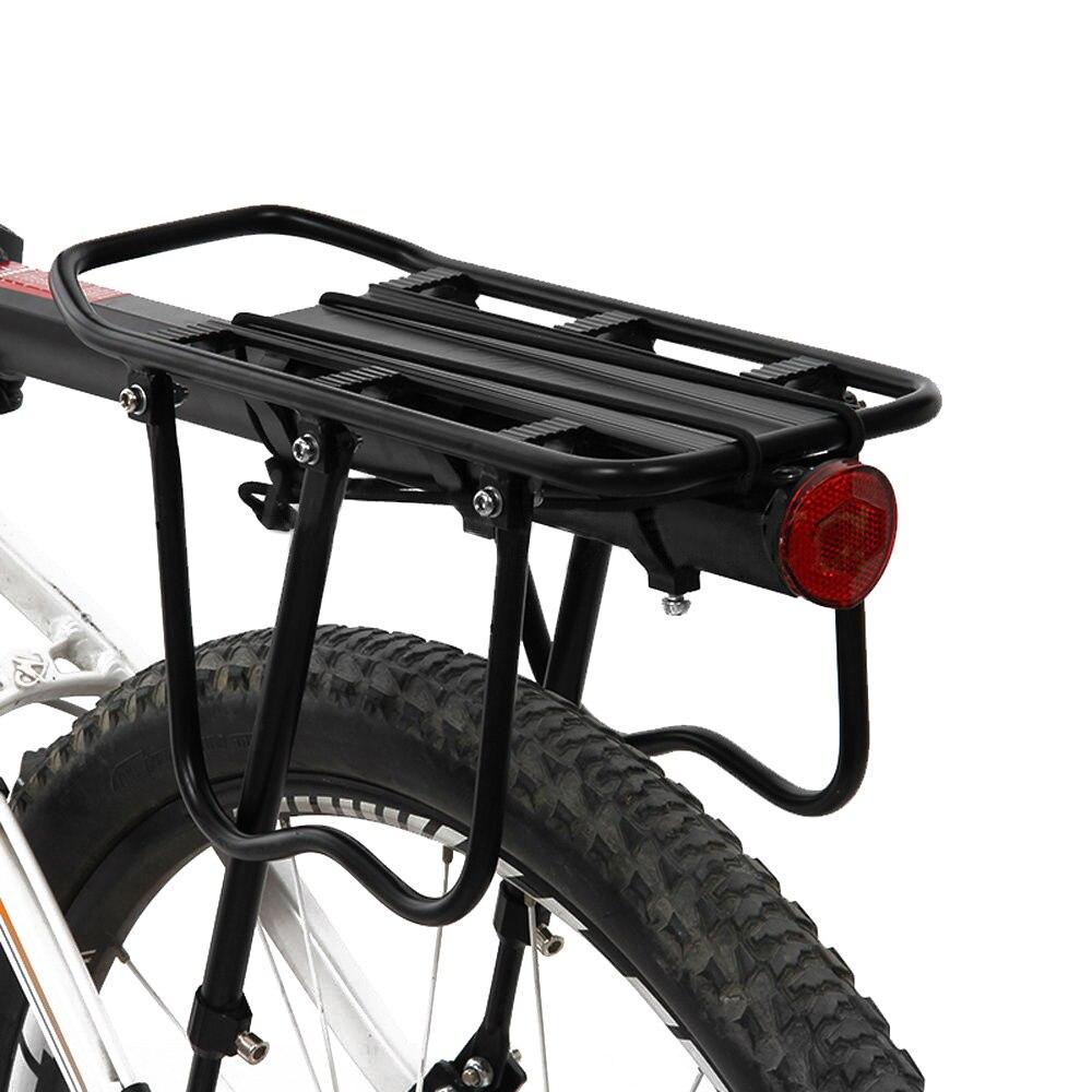 Mtb bicicleta prateleira traseira ciclismo rack de bicicleta atualizado rack da liga de alumínio pode suportar 50kg bagagem traseiro portador tronco para bicicletas