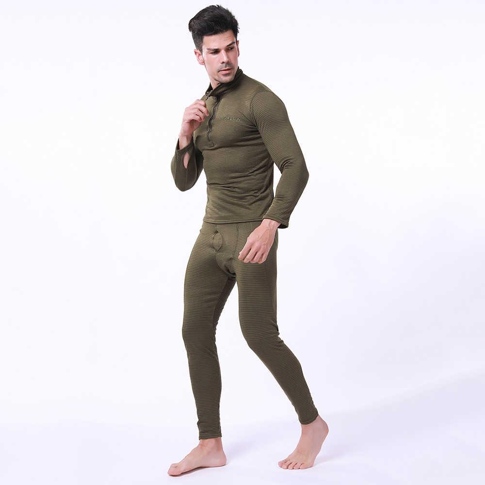 Esdy Sepeda Motor Pakaian Dalam Termal Set Cepat Kering Peregangan Pria Thermo Pakaian T-shirt Lari Set Ketat Panjang Atasan & Celana M-3XL