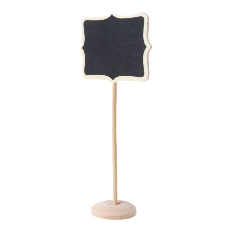 1 PC Mini Wooden Blackboard Chalkboard Message Note Holder Wedding Party Decor 746D