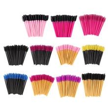 Zwellbe 50 個まつげ眉毛メイクブラシ使い捨てマスカラまつげ延長コーム美容化粧品ツール
