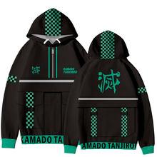 Luckyfridayf popular anime demon slayer kimetsu não yaiba 3d hoodies moletom moletom masculino/feminino streetwear moda pulôveres roupas