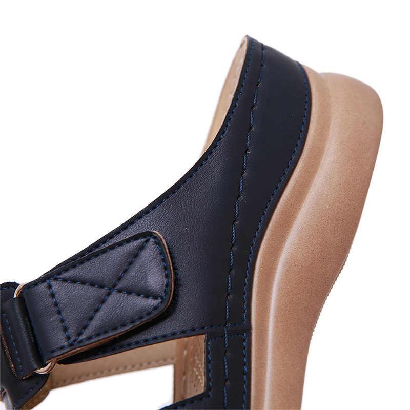 Premium ortopedik sandalet kadın erkek bunyon düzeltici düşük topuklu yürüyüş sandalet ayak düzeltici yastık açık Toe rahat sandalet