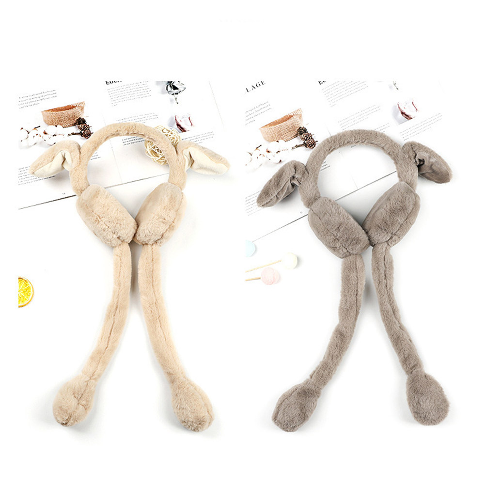 Newly 2019 Fashion Women Winter Warm Earmuffs Sweet Cute Rabbit Plush Ear Warmer Solid Color Earmuffs Soft Comfortable For Gifts