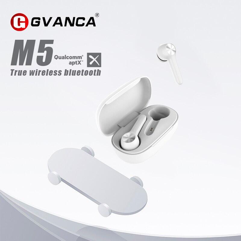 GVANCA M5 Qualcomm Chip TWS Wireless Bluetooth 5.0 Earphone Touch Control Wireless Headphones Support SBC?AAC?APTX  Decode
