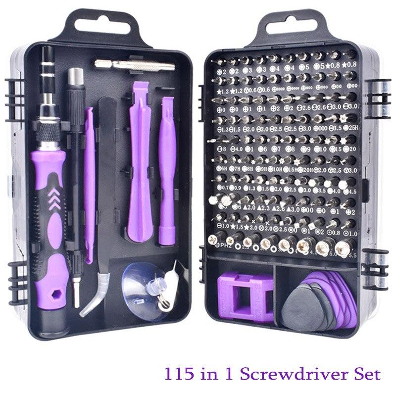 Oauee 25/115 em 1 precisão chave de fenda mini chave de fenda elétrica conjunto para iphone huawei tablet ipad casa conjunto ferramentas Chave de fenda    - AliExpress