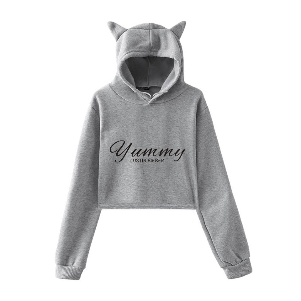 Vip Link For Diego Cropped Hoodie Grey And Pink