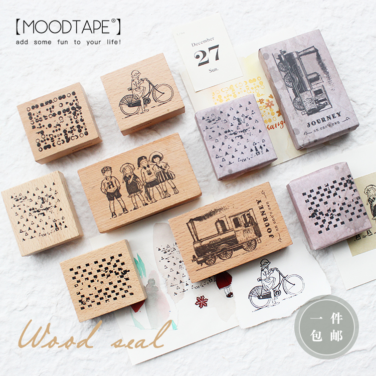 Moodtape Vintage Wood Clear Stamp For DIY Scrapbooking/photo Album Decorative Stamp Vegetation Plant Rubber Stamp Seal