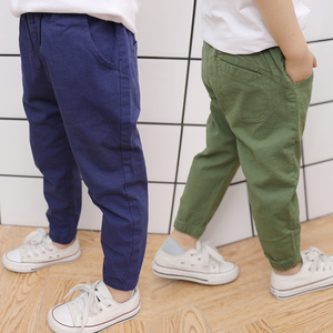 Image 1 - Famli 2018 hot sale Spring Summer Autumn children Full Lengths for baby boys trousers kids child casual Solid  Pencil pants