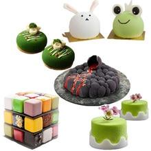 Meibum – outils de décoration de gâteaux, plusieurs Types de formes géométriques, moule en Silicone antiadhésif, cuisson de Mousse de fête, ustensiles de cuisine