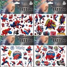 Vingadores marvel spiderman hulk capitão américa dos desenhos animados adesivos tatuagem adesivo meninos crianças festa de aniversário crianças presente
